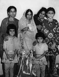 L to R: Tanweer, Uzma, Begum Younus, Anwer Begum, Ruksana Aysha