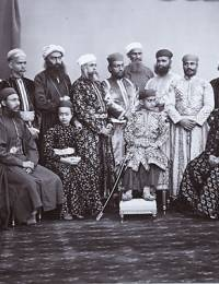Sitting extreem left with the courteirs of Nizam Mir Mahboob Ali Pasha